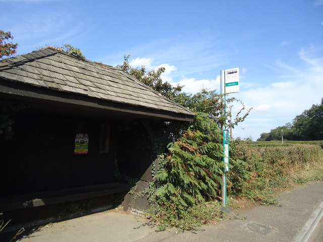 Manor Farm bus stop, Guildford Road, near Wotton