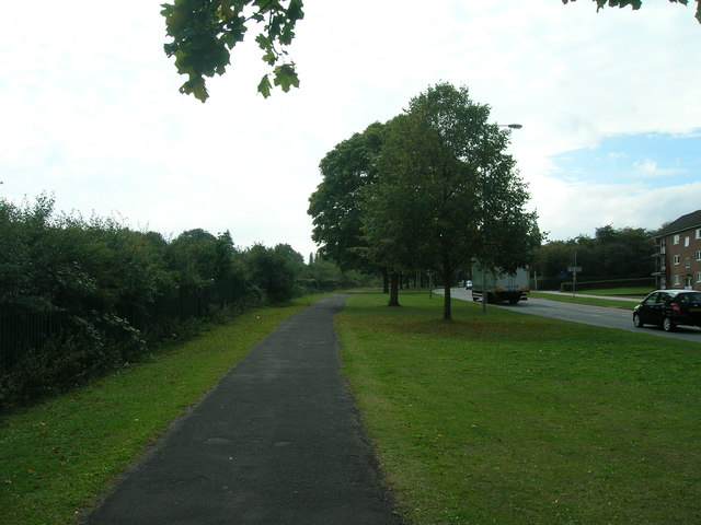 Cycle path beside the A6123