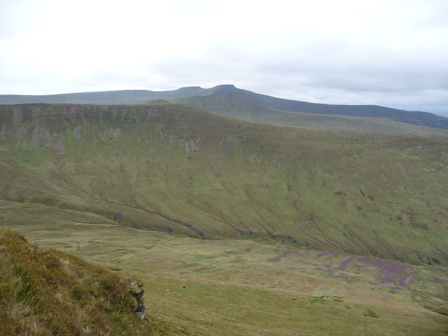 Part of Cwm Oergwm with the Beacons beyond
