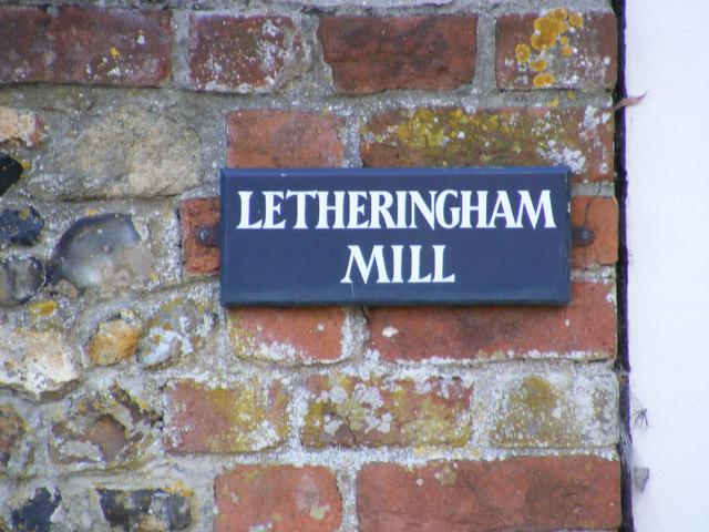 Letheringham Mill sign