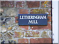 TM2758 : Letheringham Mill sign by Adrian Cable