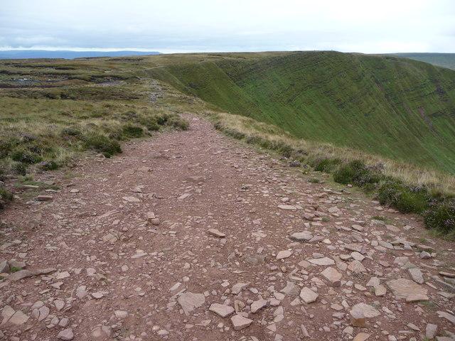 Path high above Cwm Oergwm