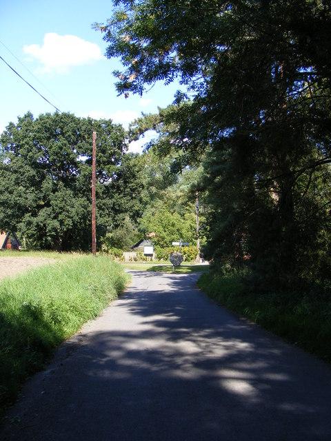 Park Road & Letheringham Village sign & Roadsign