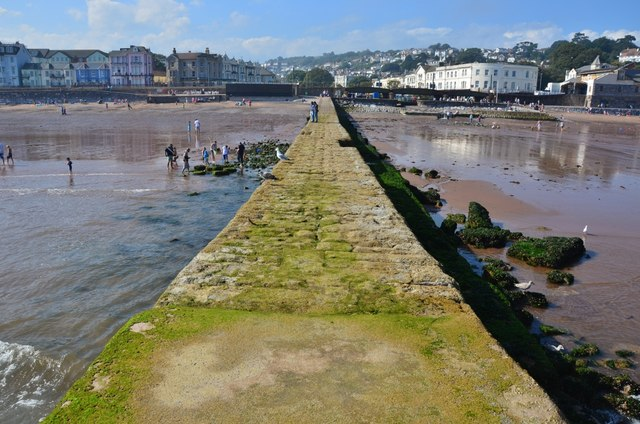 Dawlish: Jetty, Beach  and the Town