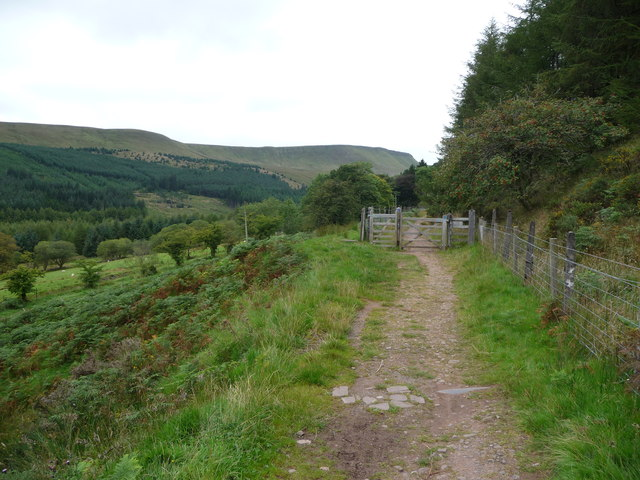 Part of the Taff Trail alongside Taf Fechan Forest