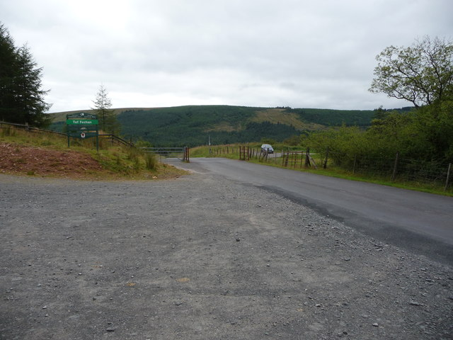 Small car park in the Taf Fechan Forest