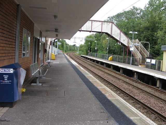 Williamwood railway station, looking South-West