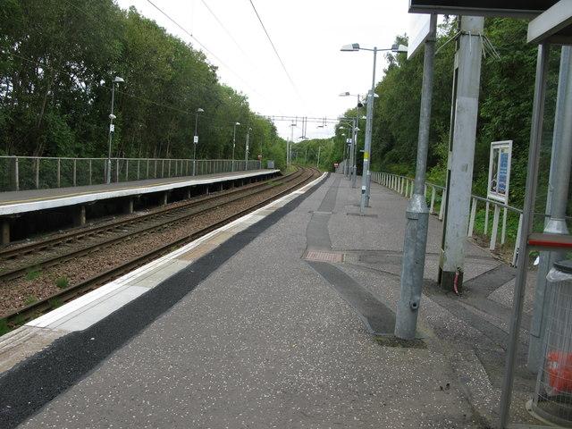 Williamwood railway station, looking North-East
