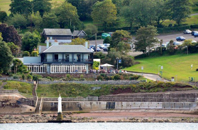 Teignmouth: The Ness Hotel and Shaldon Lighthouse