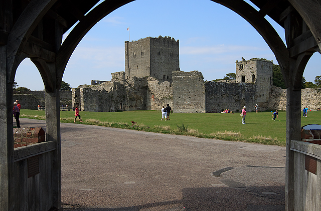 Portchester Castle from St Mary's church