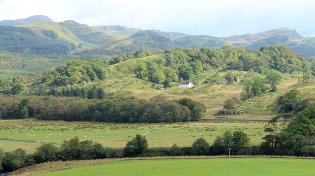 Rhudle Farmhouse from Dunadd Fort