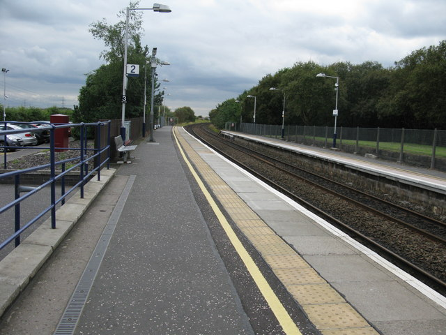 Croy railway station, looking South-West