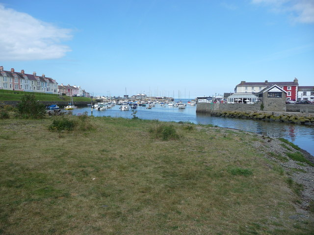 Aberaeron harbour in August