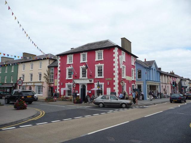 The Castle Hotel on Market Street, Aberaeron