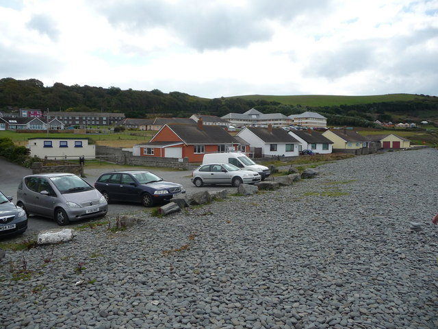 Behind the storm beach, Aberaeron