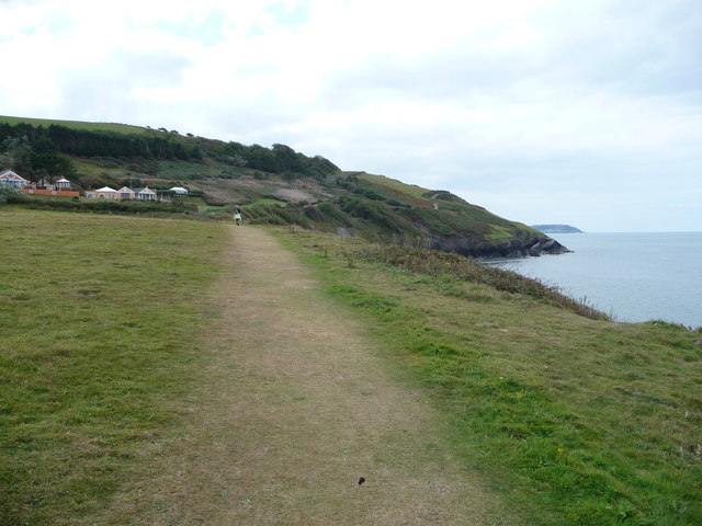 Walker on the Ceredigion Coast Path out of Aberaeron