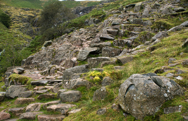 The path up Stickle Ghyll