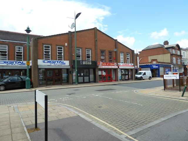 Looking from Coleman Street into St Mary Street