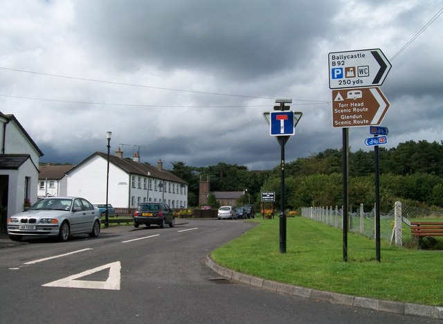 The northern end of Main Street at Cushendun