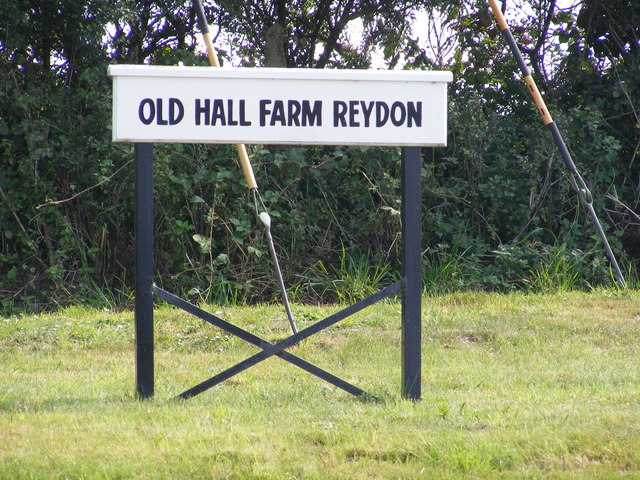 Old Hall Farm Reydon sign