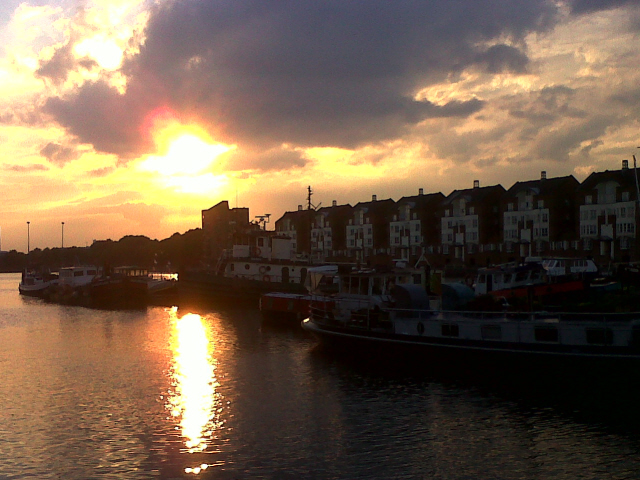 Evening over Greenland Dock