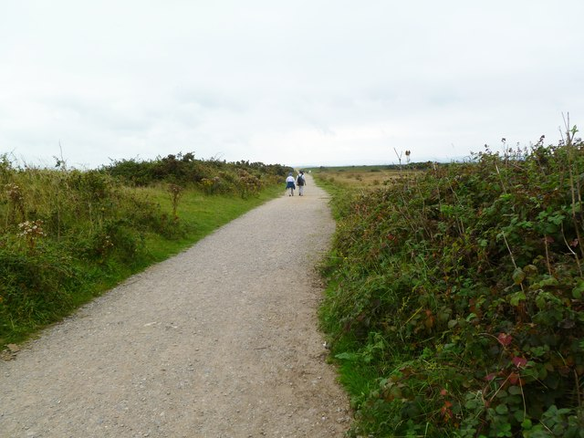 Pennington Marshes, footpath
