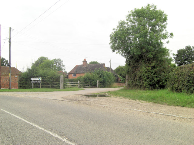 Wasing Lower Farm entrance