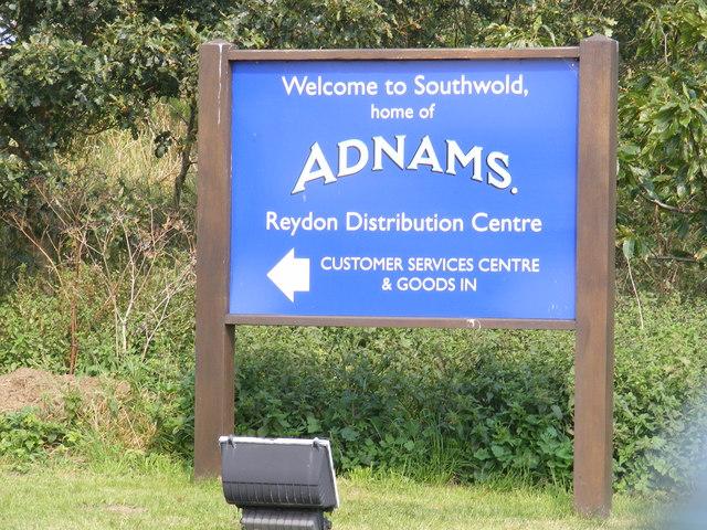 Adnams Distribution Centre sign