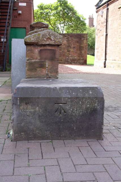 Benchmark on end of wall on Castle Street
