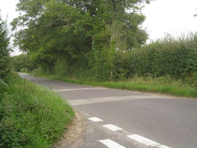 Lane junction (Little Ham Farm)
