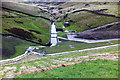 SD9332 : View downstream from Widdop Reservoir dam by Phil Champion
