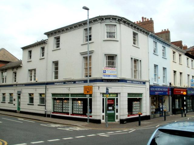 Crook & Blight and David Stock, Bridge Street, Newport