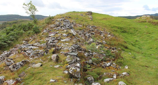 Defensive walls, Dunadd fort