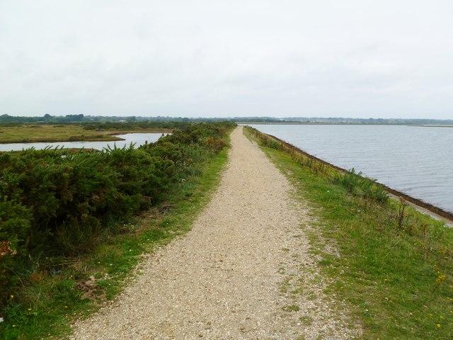 Oxey Marsh, coastal footpath