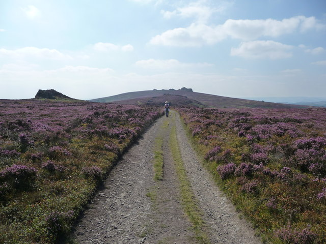 Footpath approaching the Stiperstones in early September