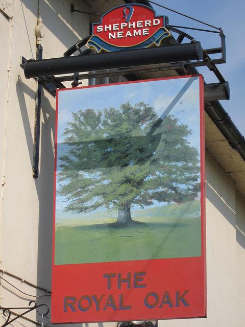 The Royal Oak sign