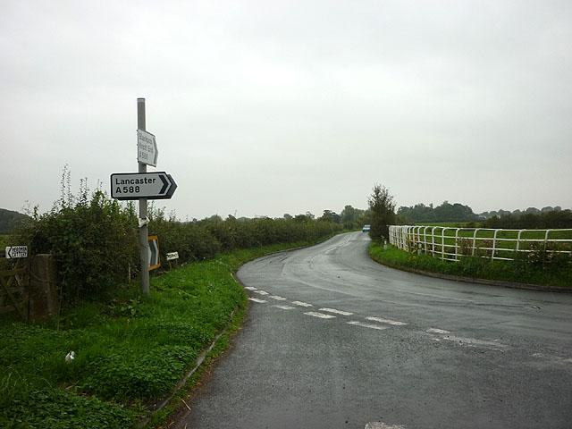 Horse Park Lane joins Lancaster Road at Lane Ends Farm