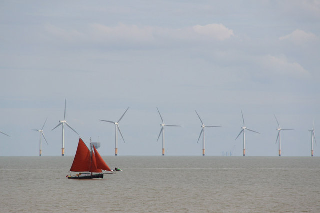 Red Sailed Boat, Clacton, Essex