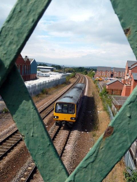 Train approaching Darnall Station
