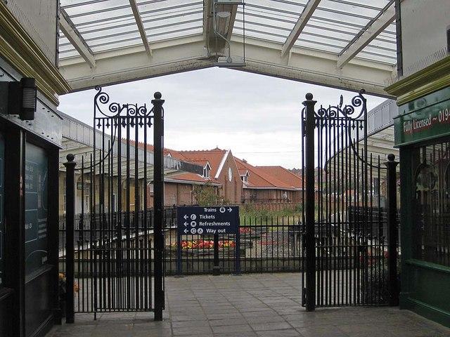 Whitby Station gates