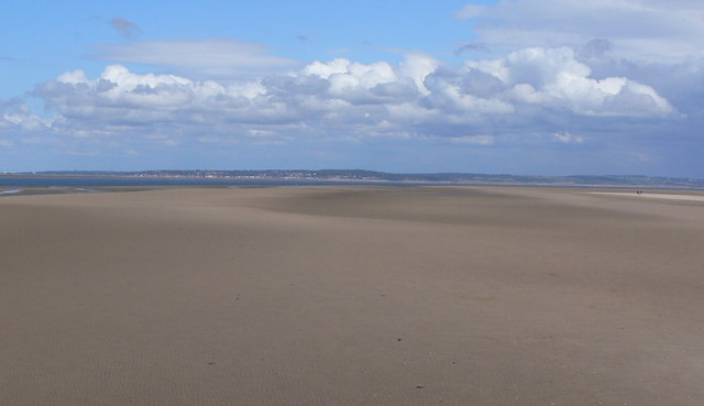 View east across Talacre Beach