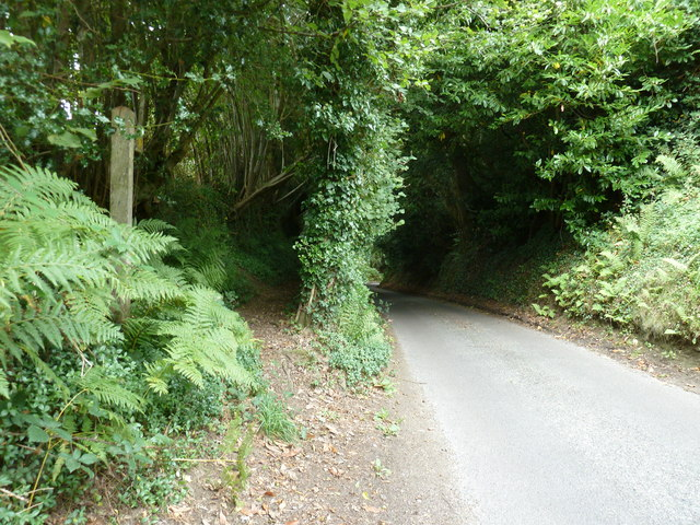 Footpath at the top of Stubb Hill on Iping Lane