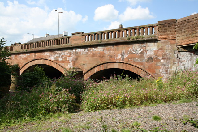 Caldew Bridge from the east bank of the River Caldew