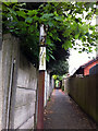 """SP0481 : Remains of a pre-Worboys """"Cycling Prohibited"""" sign by Phil Champion"""