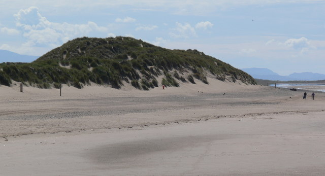Sand dune on Talacre Beach