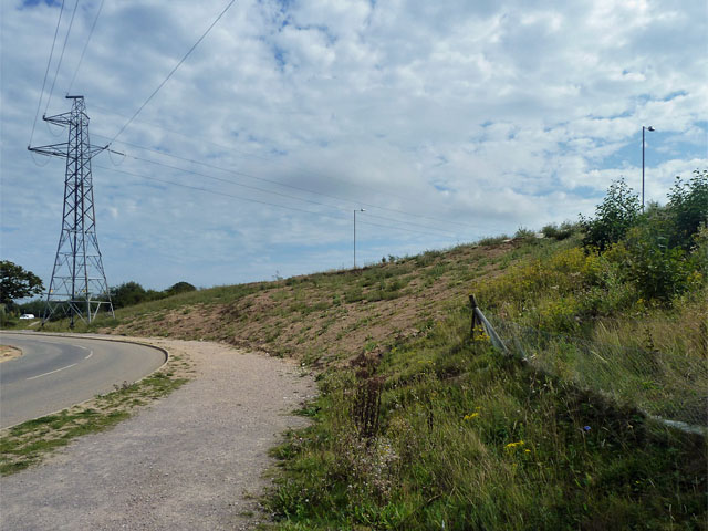 Unstable embankment, A27 Polegate bypass