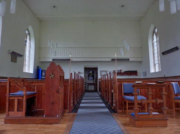 Holy Trinity Church, Feetham, Interior