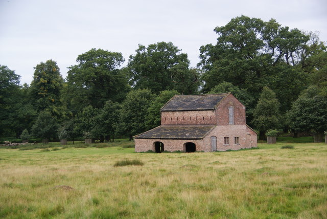 Barn in the deer park, Dunham Park