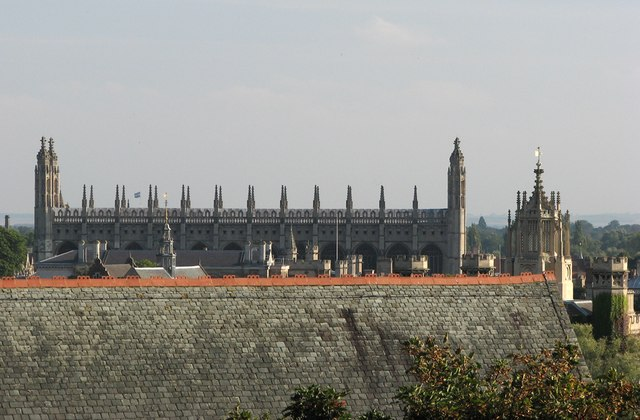 King's College Chapel over the rooftops