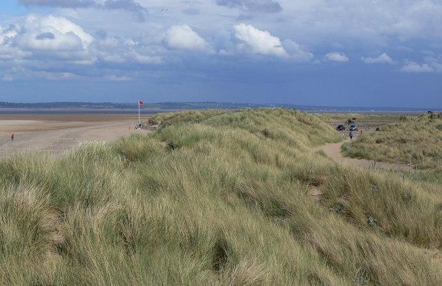 Sand dunes at Talacre Beach